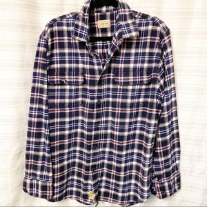 JACHS Thick flannel red/white/blue size XL